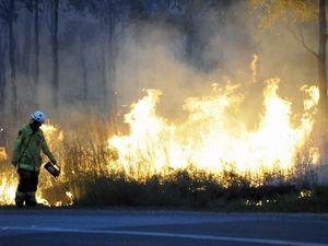 Grass fire burning in Glen Eden
