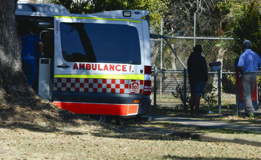The scene of a stabbing in South Grafton.