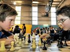 Morgan Galvin from Highfields State School (left) and Brock Gilbert from Toowoomba Christian College competed in the chess tournament.