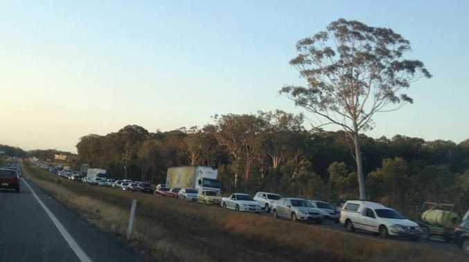 Traffic is banked up on road to Brisbane from the Sunshine Coast.