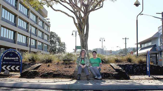 CAMPAIGN: Greens candidates Vanessa Ekins and Shae Salmon want to save our roundabouts.