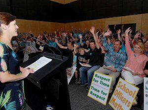 Catholic education teachers strike