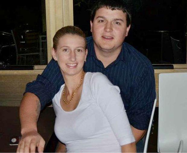 Scott de Git stays close to fiancee Kimberly Hewatt.