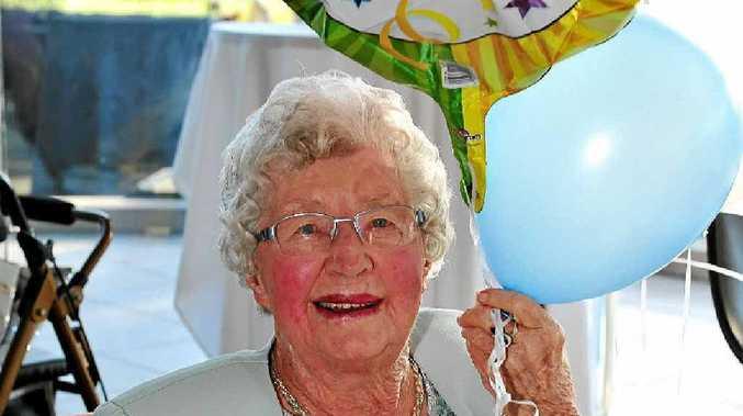 Edna Marshall celebrates her 100th Birthday at Peregian Springs Golf Club.