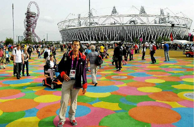 Physiotherapist Phil Gabel volunteered his services at the London Olympics.