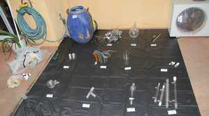 Precursor chemicals and laboratory equipment seized during Operation Lightning