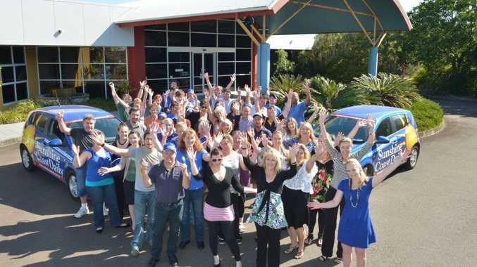 The Sunshine Coast daily staff celebrate winning Newspaper of the Year at the PANPAs. Photo: John McCutcheon / Sunshine Coast Daily