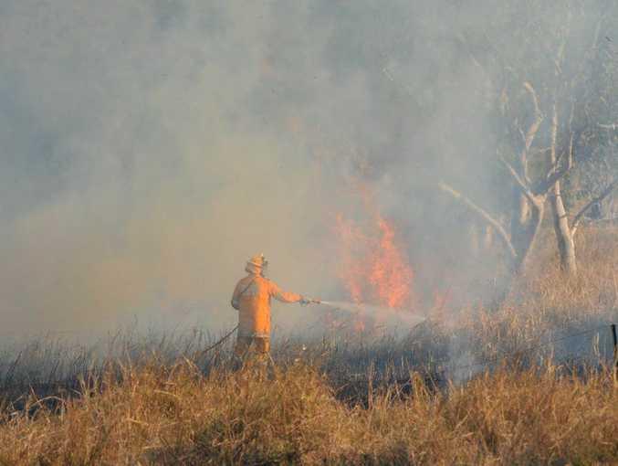 A bushfire at Murdering Creek Road, Peregian.