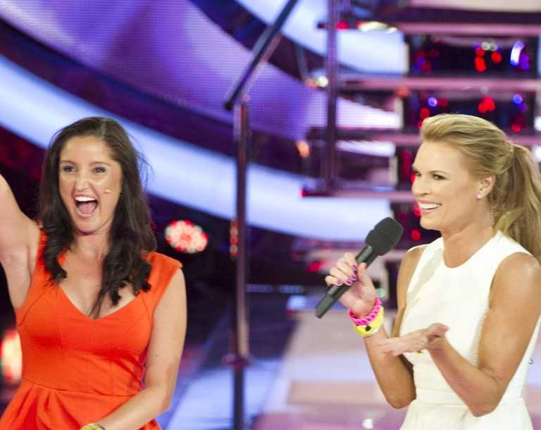 Latest evictee: Sarah Wentworth-Perry with host Sonia Kruger.
