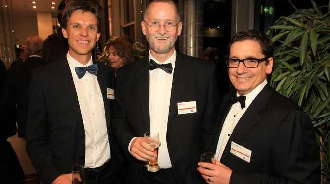 Australian Institute of Management awards at Caloundra RSL Function centre. (L to R) Marc Venter, Gavin Keats and Simon Moore (Sunshine Coast Deputy Chair AIM). Photo: Cade Mooney / Sunshine Coast Daily