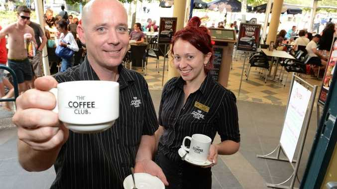 Mooloolaba Coffee Club manager Troy Reedman with Andrea Nielsen. Story about some businesses struggling to fill positions. Photo:Warren Lynam / Sunshine Coast Daily