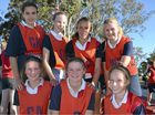 The Warwick Netball Junior A champion Swifts players (front, from left) Dimity Brackin, Amber Christensen, Lauren Brown (back) Ashleigh Bradfield, Hannah Donges, Marley Cooper and Sarah Pickering.