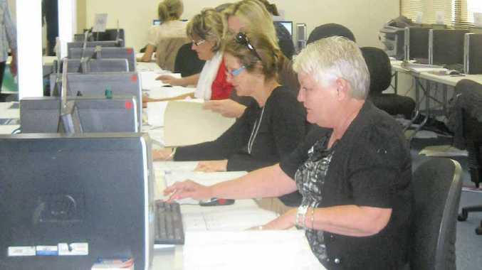 The council election votes are still being counted at the office of the returning officer.
