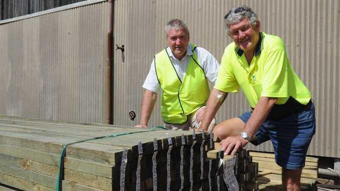 DTM Timbers managing director John McNamara and chairman Curly Tatnell.
