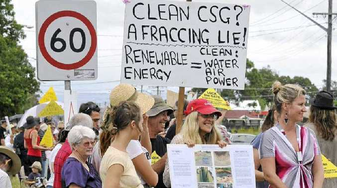NOT WANTED: CSG protest outside Metgasco office in Johnston Street, Casino.