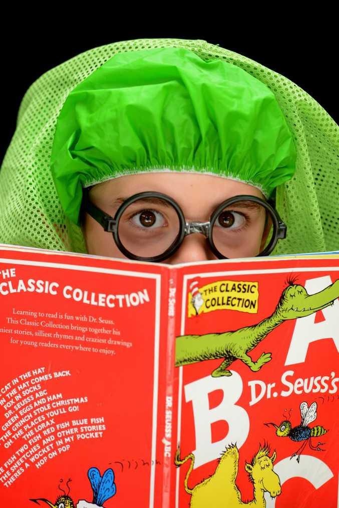 Bailey Ouslinis as the book worm.