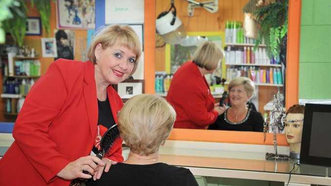 Caloundra hairdresser Maria Hall in her salon, Spoilt Brat Hair Design.
