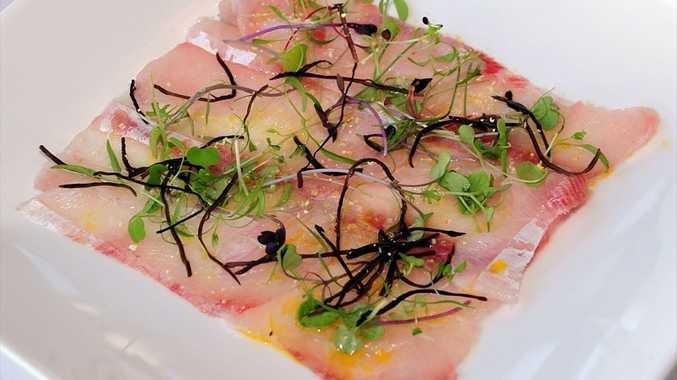 Wild River Barramundi with Yuzu and Arame Seaweed, from Wasabi restaurant.