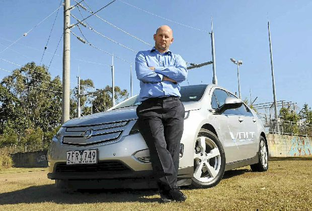NewsMail's Craig Cobbin test drives Holden's new extended-range electric vehicle, the Volt.