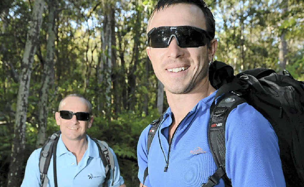 Chris Evans and Jon Chemello are off to face the Kokoda Challenge.