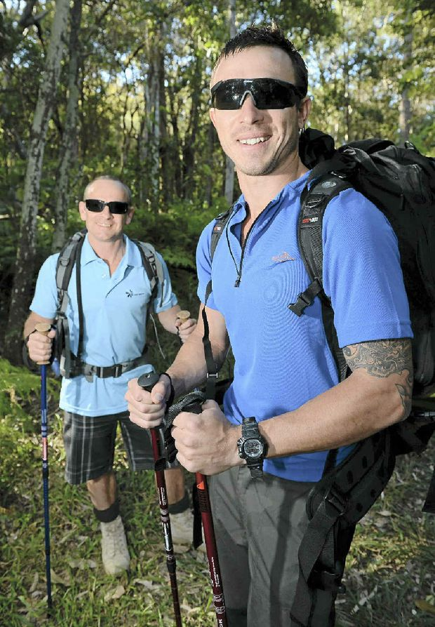Chris Evans and Jon Chemello are off to face the Kokoda Challenge.