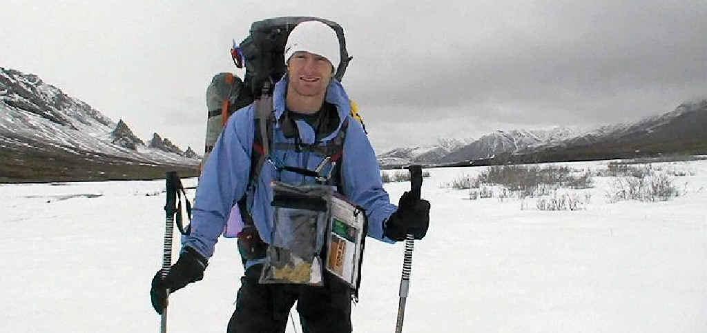 Extreme adventurer John Cantor in Alaska.