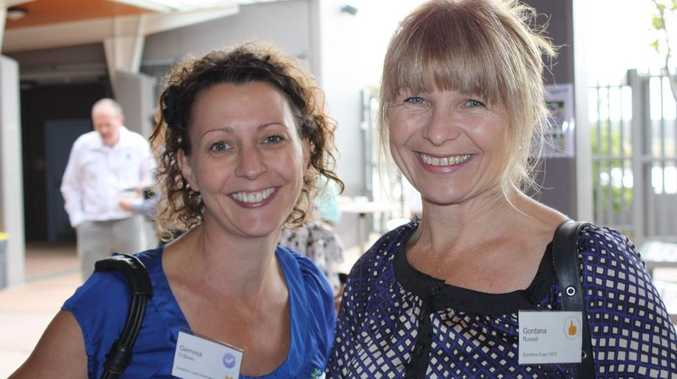 Gemma O'Brien, LEFT, and Gordana Russell at the tourism forum. Photo Contributed