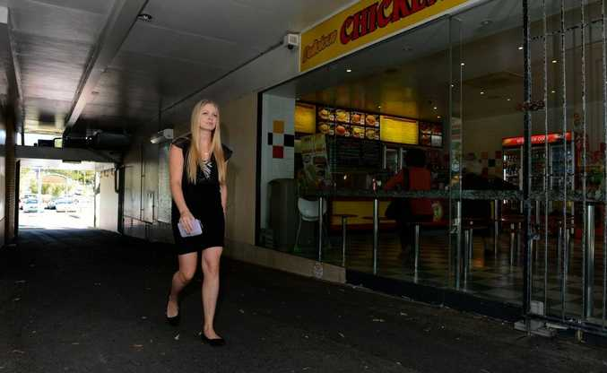 An arcade on Griffith St, Coolangatta, which will be upgrade in plans to give the shopping strip a makeover.