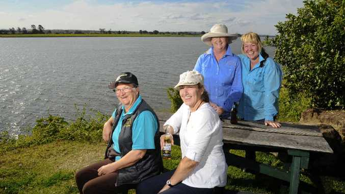 Travelling Grannies who rode on horseback to raise money for the Westpac Rescue Helicopter Service from left: Cherrie Davies, Pippa Baden, Vikki Fletcher, and Colleen Hinds.