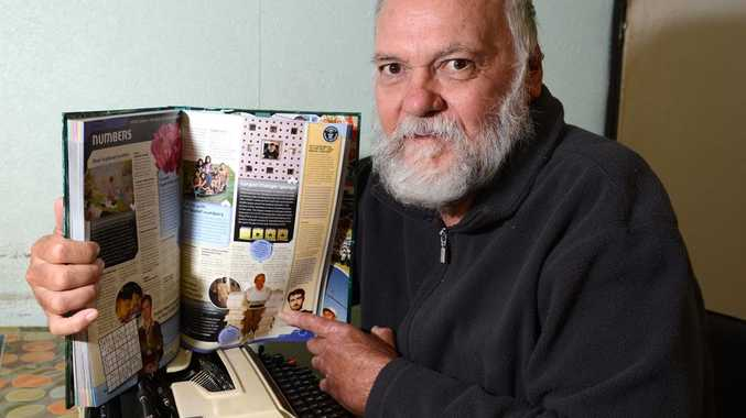 Les Stewart of Mudjimba has held the world record for typing for 30 years and has been featured in the Guinness Book of World Records.