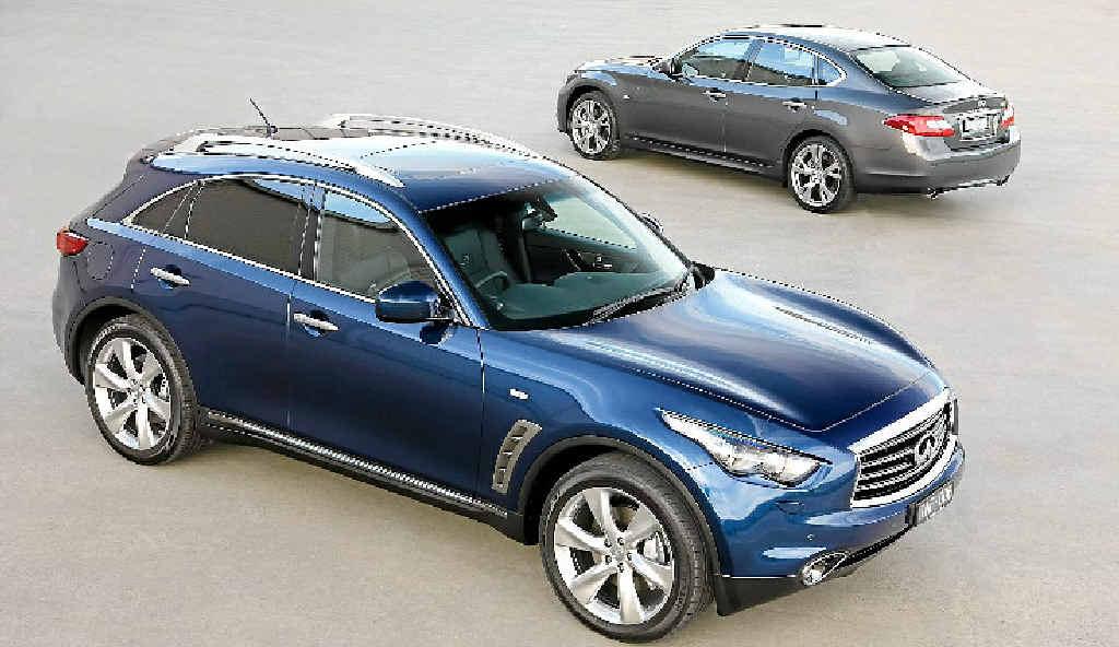 The Infiniti FX SUV and the M sedan.