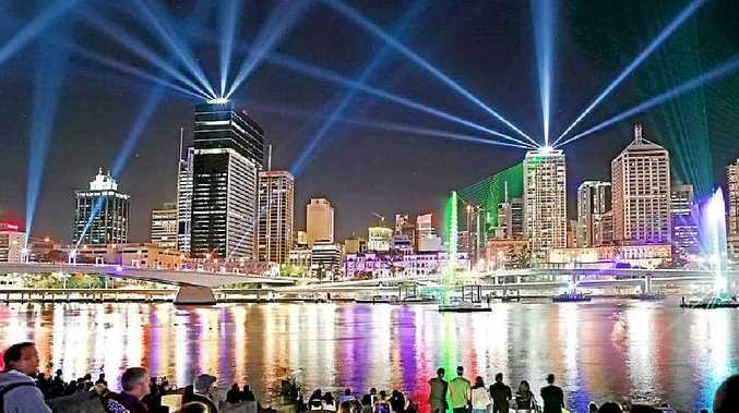 The City of Lights show is a free event and on every night during the Brisbane Festival.