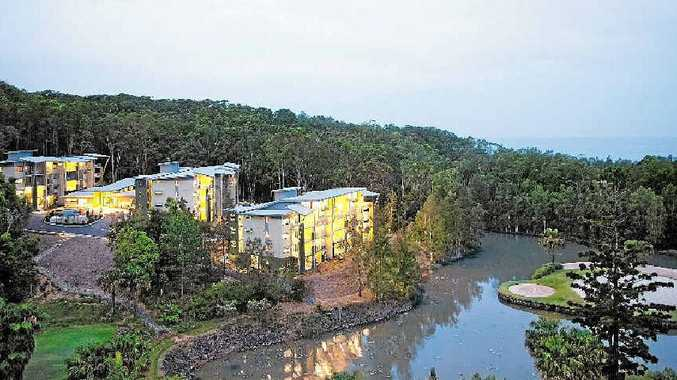 The 60-unit Treetops complex is nestled among the trees just at Charlesworth Bay, just to the north of Coffs Harbour.