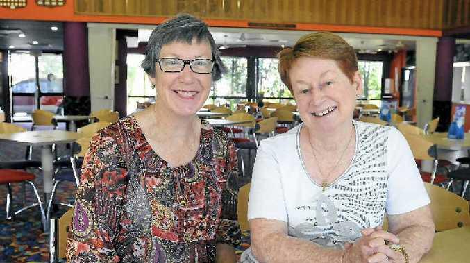 Barb Kukulies and Marie-Ann Martin at the senior drivers' presentation.
