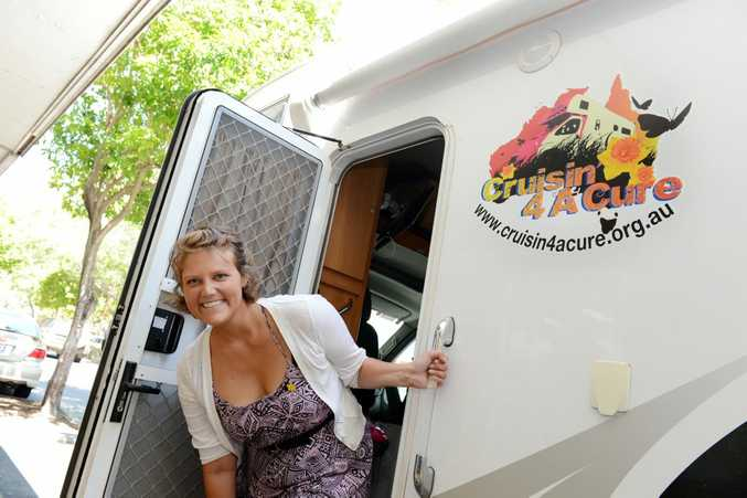 Vanessa Wyder is travelling Australia in a Jayco motorhome, fundraising for cancer research.