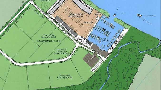 The Marine Industry Park would be located near the Mary River and would put Maryborough in the position to be able to launch locally built boats. The light green area of the graphic shows the space intended for the new Marine Industry Park.