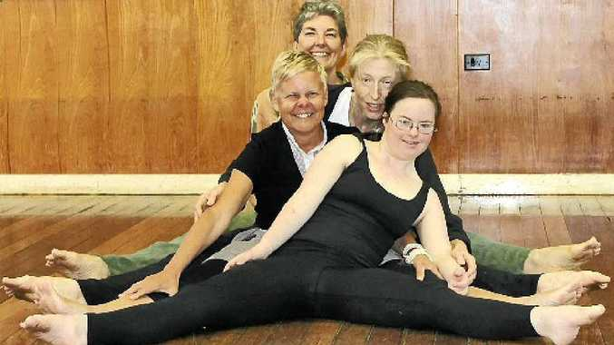 ACCESSIBLE DANCE: Front to back, Tara Coughran, Julie Barratt, Suzanne Whiteman and Robyn Brady.