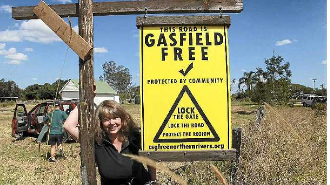 NO GAS: Resident of Bungawalbin-Whiporie Road Candy Lawrence is happy having her area the first in Richmond Valley to be declared 'gasfield free'.