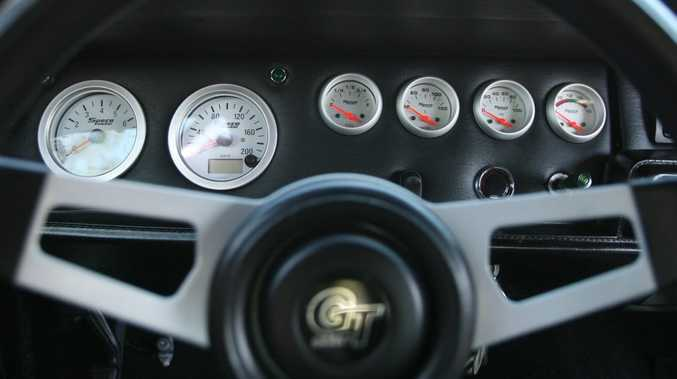 Dashboard of a 1968 Dodge Charger. Photo: Chris Ison / The Morning Bulletin