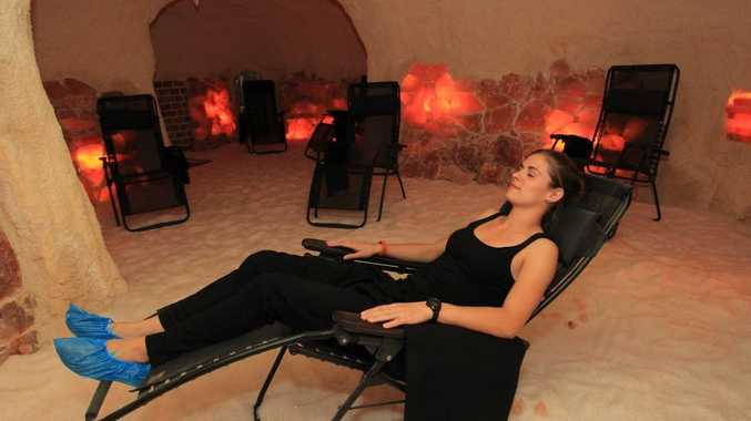 Catherine Mycock, manager of Salt Caves in Mooloolaba, in the salt therapy room.