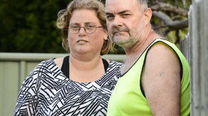 Daryl Wood and Toni Sonter talk about their experience after a stolen vehicle crashed into the rear of their Rav4 at Ulmarra.
