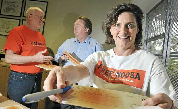 Darlene Gower, Noel Playford and Glen Elmes hope a vote will be the next step.