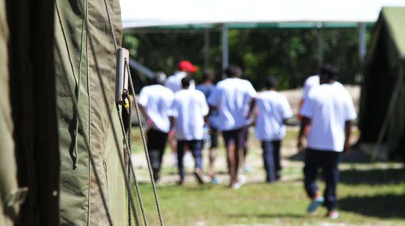 Tent accommodation for irregular maritime arrivals in Nauru.
