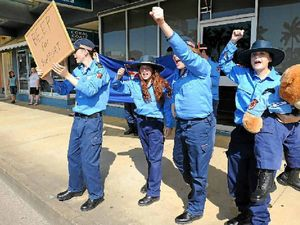 SES cadets in protest