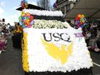 The University of Southern Queensland's parade-winning float at the Carnival of Flowers.