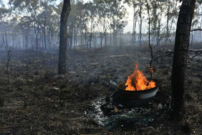 There was a grass fire in Glen Eden near the railway lines. Photo Christopher Chan / The Observer