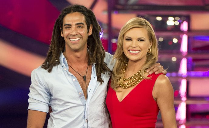 Happy to go: George Baramily with host Sonia Kruger.