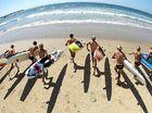 Surf stars line up