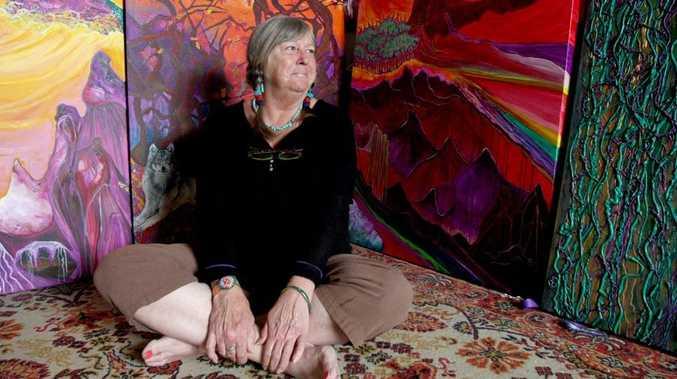 Caz McDougall in her Kingscliff Studio Photo Blainey Woodham / Daily News