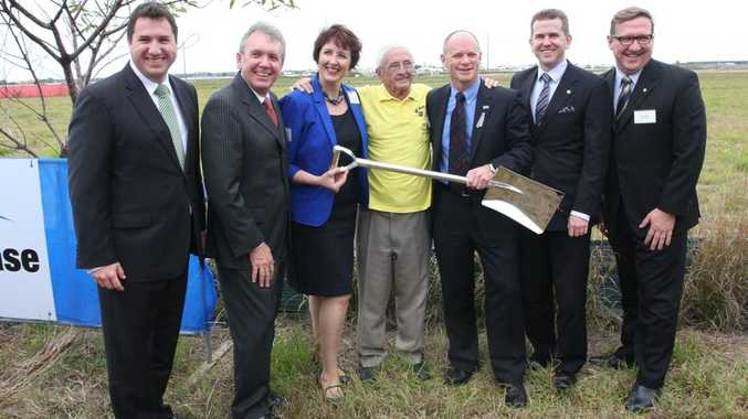 THE sod was turned at the site of the Sunshine Coast University Hospital today.